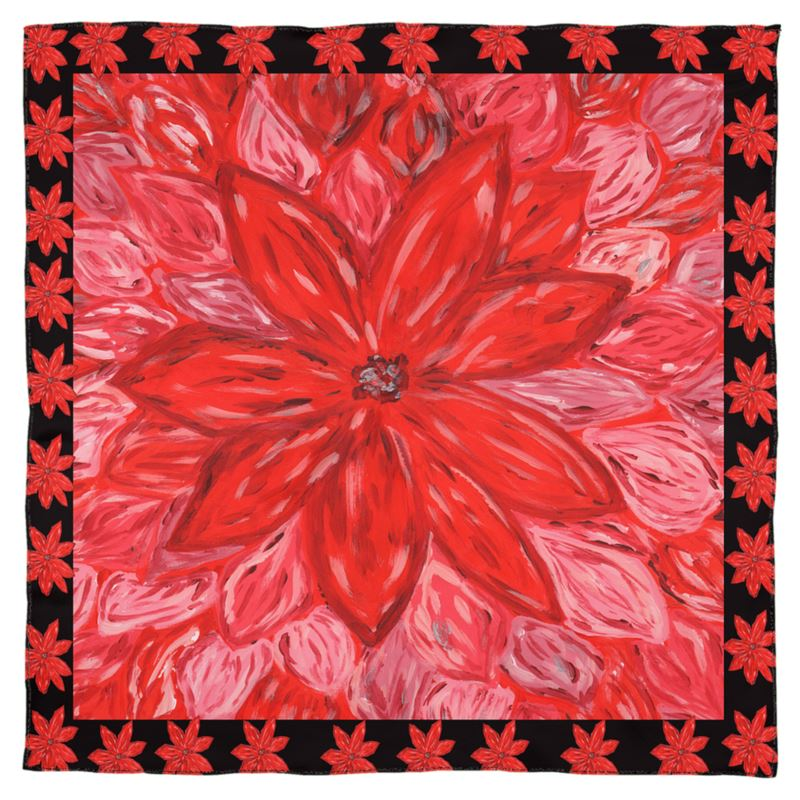 Red Flower Scarf