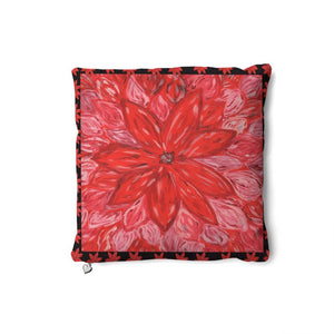 Red Flower Cushion