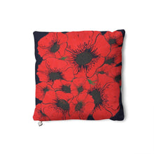 Load image into Gallery viewer, Red Poppy Cushion
