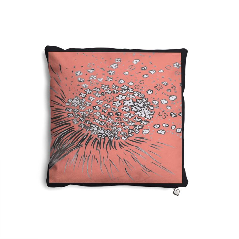 Coral Flower in the Wind Cushion
