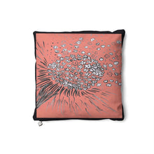 Load image into Gallery viewer, Coral Flower in the Wind Cushion