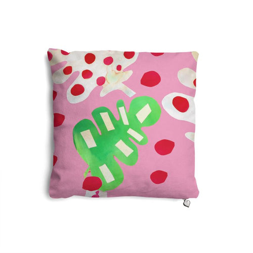 Tropical Fever in Pink Cushion
