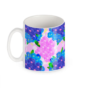 Pansy Mug in blue and pink