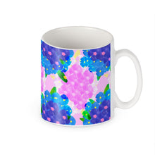 Load image into Gallery viewer, Pansy Mug in blue and pink