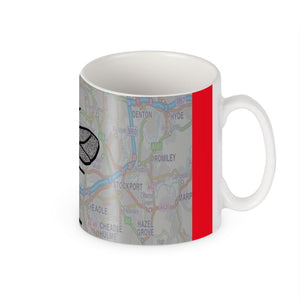 Manchester Map and Bee Mug