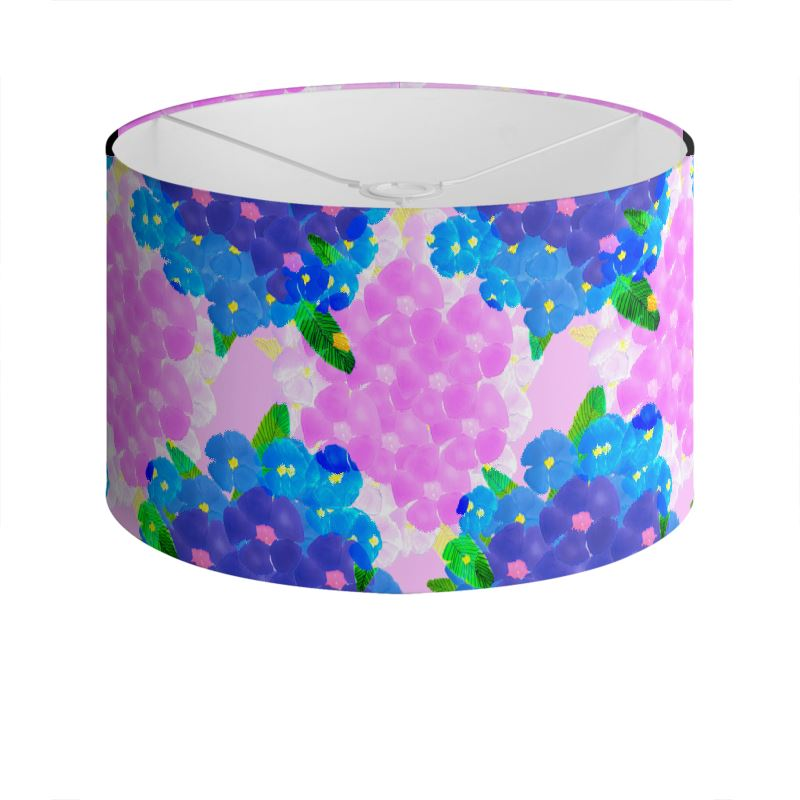 Pink and Blue Pansy Lampshade
