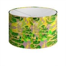 Load image into Gallery viewer, Acid Green and Purple leafy design lampshade