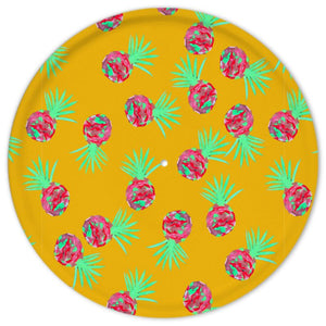 Quirky Pineapple and acid leaf cake stand