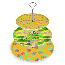 Load image into Gallery viewer, Quirky Pineapple and acid leaf cake stand