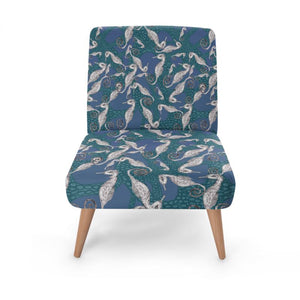 Gorgeous Seahorse Design Occasional Chair
