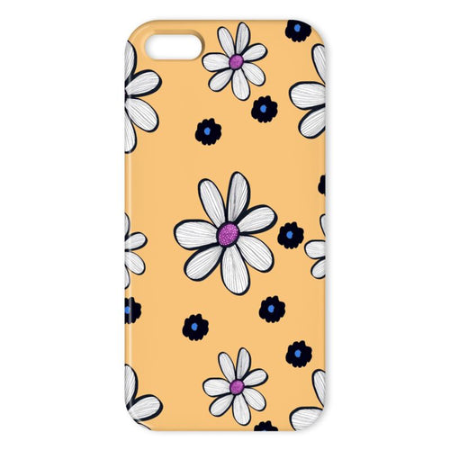 Cheerful yellow floral phone case