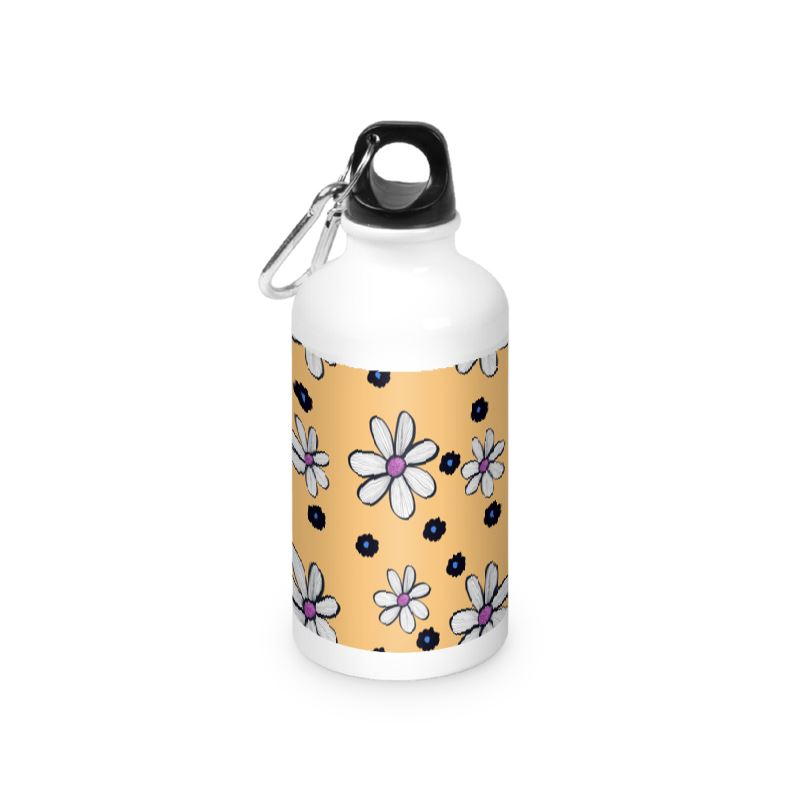 Quirky Yellow flower water bottle