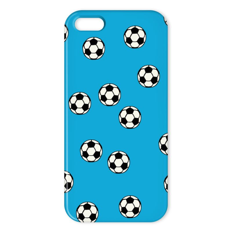 Blue Footballs on an iPhone Case