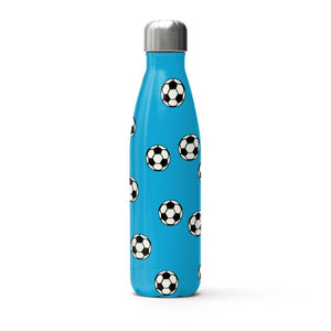 Blue Footballs on a Thermal Bottle