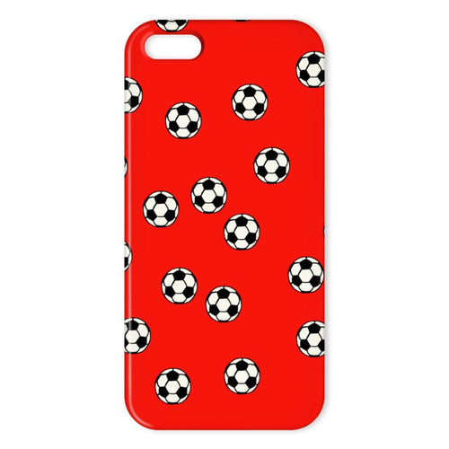 Red Footballs on an iPhone case
