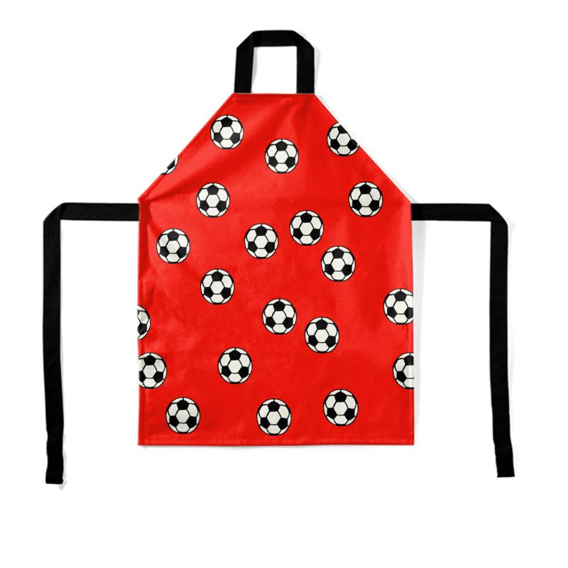 Red Footballs on an apron
