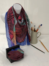 Load image into Gallery viewer, Swirls of Colour Scarf in a gift box  140cm square