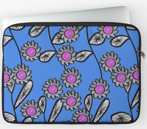 Fun Stem and Flower Laptop Sleeve