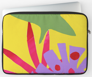 Bright Yellow Tropical Laptop Sleeve