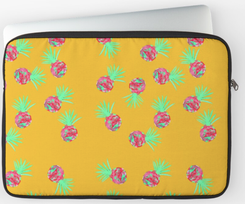 Fun Pineapple Laptop Sleeve