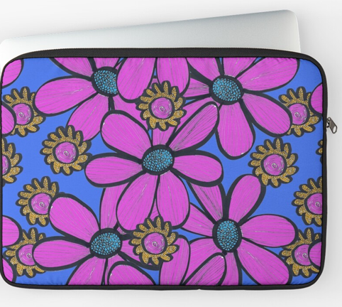 Bold Pink Flower Laptop Sleeve