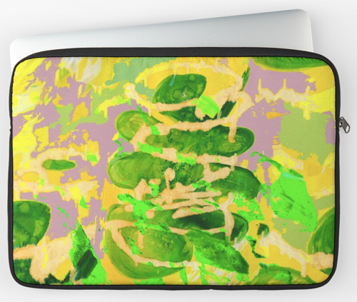 Painted Acid Leaf Laptop Sleeve