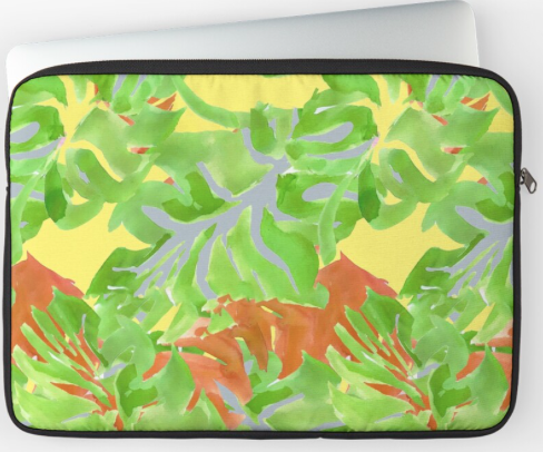 Cheese Plant Leaves Laptop Case