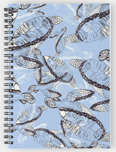 Tumbling Turtle Spiral Notebook