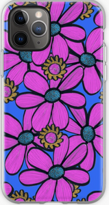 Bright Pink Quirky Floral design Phone Case