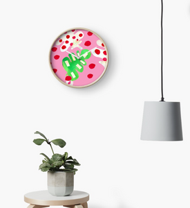 Tropical Fever in Pink Clock
