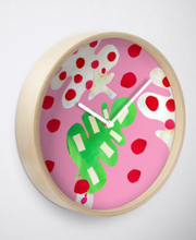 Load image into Gallery viewer, Tropical Fever in Pink Clock