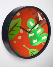 Load image into Gallery viewer, Tropical Fever in Orange Clock