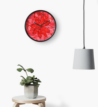 Load image into Gallery viewer, Red Flower Clock