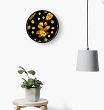 Load image into Gallery viewer, Chocolate Orange colour tropical clock