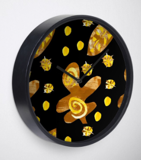 Chocolate Orange colour tropical clock