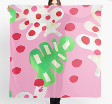 Load image into Gallery viewer, Jungle Fever in pink design Scarf in a gift box  140cm square