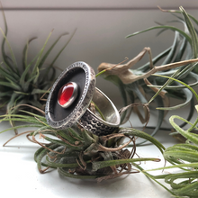 Load image into Gallery viewer, carnelian sterling silver handmade ring