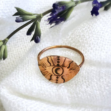 Load image into Gallery viewer, Talisman Eye Ring size 8.75