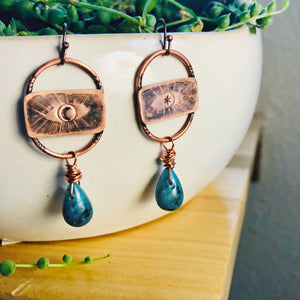 Talisman Eye and Quartz earrings