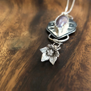 Purple Passion Agate Blossom Necklace