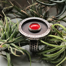 Load image into Gallery viewer, carnelian sterling silver ring