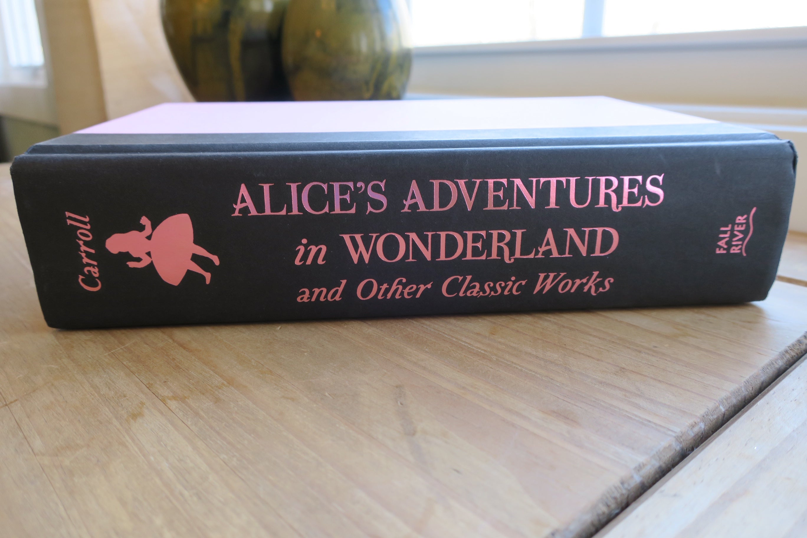 Alice in Wonderland Book Carving