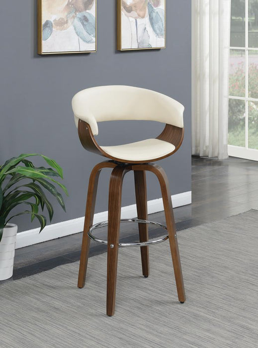 G100206 Contemporary Walnut and Cream Bar Stool image