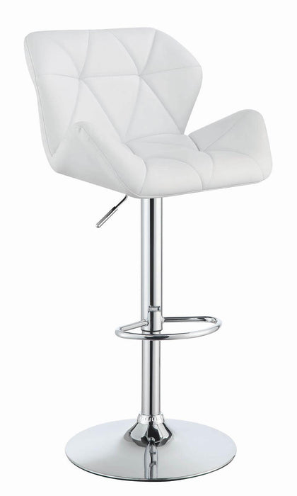 G100424 Contemporary White Adjustable Bar Stool image