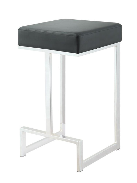 G105253 Contemporary Chrome and Black Counter-Height Stool image
