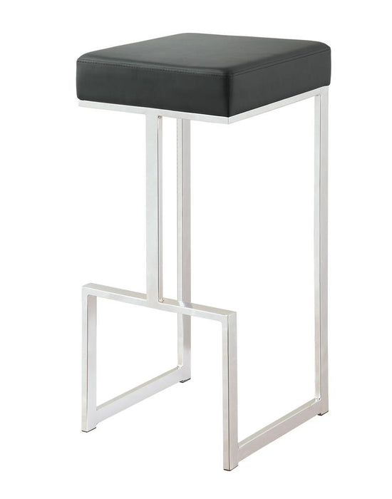 "G105263 Contemporary Chrome and Black 29"" Bar Stool image"