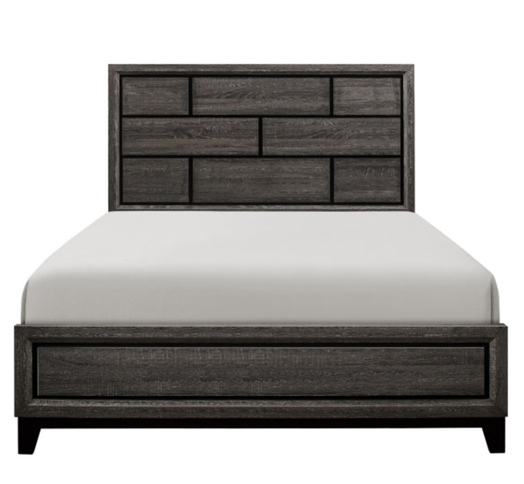 Homelegance Davi King Panel Bed in Gray 1645K-1EK* image