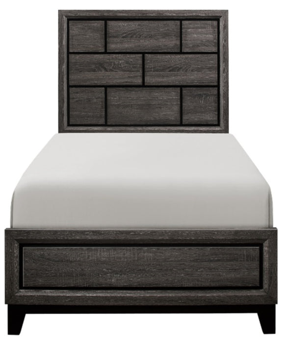 Homelegance Davi Twin Panel Bed in Gray 1645T-1* image