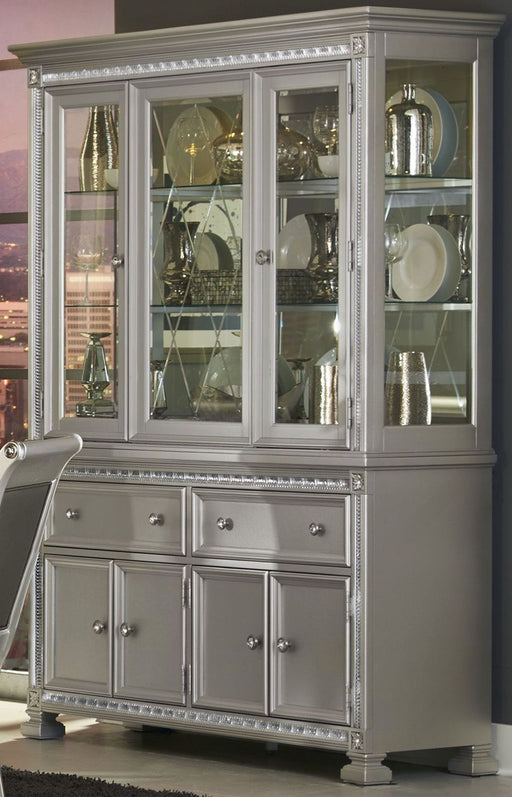 Homelegance Bevelle Buffet with Hutch in Silver 1958-50-55 image