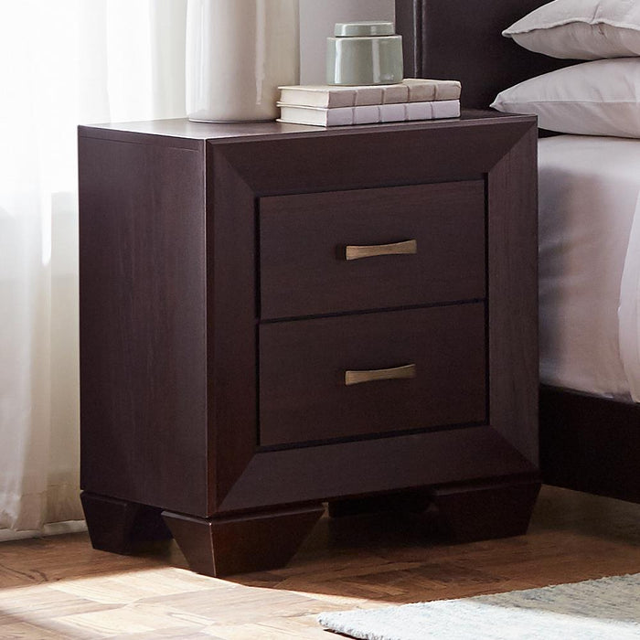Fenbrook Dark Cocoa Two-Drawer Nightstand image